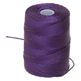 Thread, C-Lon®, nylon. 1 x Spool Size 0.5mm - 92yds (3-ply twisted) Purple