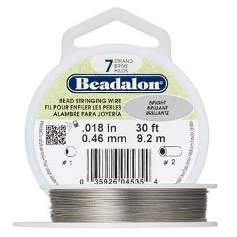 "7-Strand 0.018"" - Beadalon® - Bright - 30 Foot spool - Nylon-coated Stainless Steel Beading Wire"