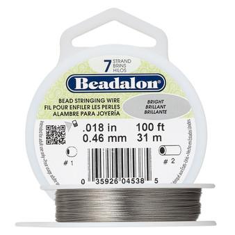 "7-Strand 0.018"" - Beadalon® - Bright - 100 Foot spool - Nylon-coated Stainless Steel Beading Wire"