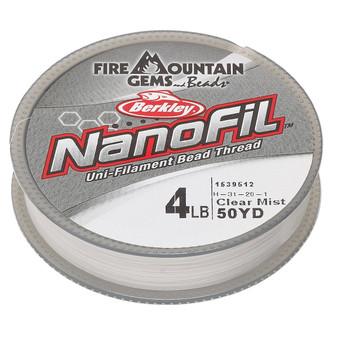 "Thread, Berkley® NanoFil®, Dyneema®, 50-yards Clear Mist 4lb (0.004"") nanofilaments"