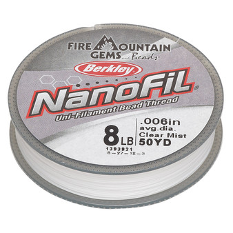 "Thread, Berkley® NanoFil®, Dyneema®, 50-yards Clear Mist 10lb (0.007"") nanofilaments"