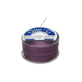 Thread, TOHO BEADS®, One-G™, nylon. 1 x Spool Size O - 50yds Purple