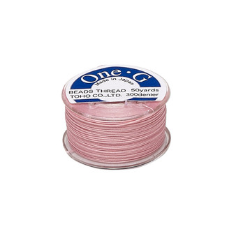 Thread, TOHO BEADS®, One-G™, nylon. 1 x Spool Size O - 50yds Pink