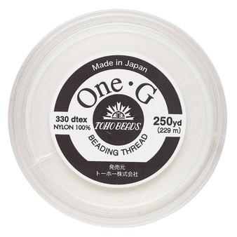 Thread, TOHO BEADS®, One-G™, nylon. 1 x Spool Size O - 250yds White