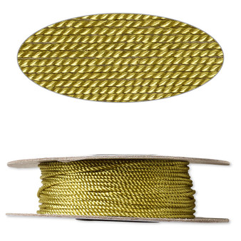 Cord,  nylon. 1 x Spool Size 1mm - 100 foot (twisted) Olive Green