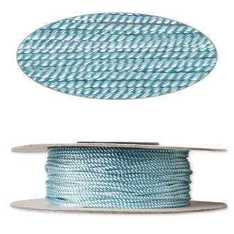Cord,  nylon. 1 x Spool Size 1mm - 100 foot (twisted) Turquoise Blue