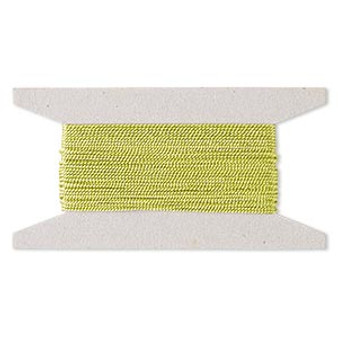 Cord,  nylon. 1 x Spool Size 1mm - 100 foot (twisted) Lime Green