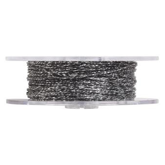 Cord,  nylon. 1 x Spool Size 1mm - 100 foot (twisted) Metallic Silver & Black