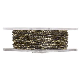 Cord,  nylon. 1 x Spool Size 1mm - 100 foot (twisted) Metallic Gold & Black