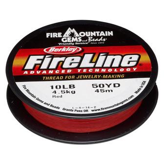 Thread, Berkley® FireLine®, 50-yards Red 10lb (0.2mm)