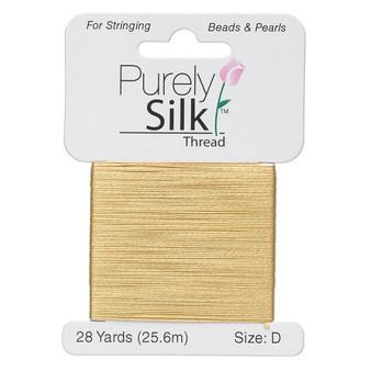 Thread, Purely Silk™, Gold. 1 x Card Size D - 28yds