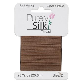Thread, Purely Silk™, Chestnut. 1 x Card Size D - 28yds
