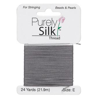 Thread, Purely Silk™, Dark Grey. 1 x Card Size E - 24yds