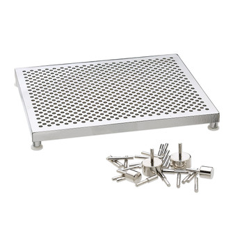 Wire jig, Thing-A-Ma-Jig, aluminum and plastic, clear, 5-1/2 x 4-1/2 inch with 30 pegs and fasteners. Sold individually.