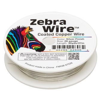1 x reel of Zebra Wire round - 26 guage (30 yards, 27 metres) Silver