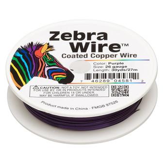 1 x reel of Zebra Wire round - 26 guage (30 yards, 27 metres) Purple