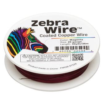 1 x reel of Zebra Wire round - 28 guage (40 yards, 36 metres) Magenta