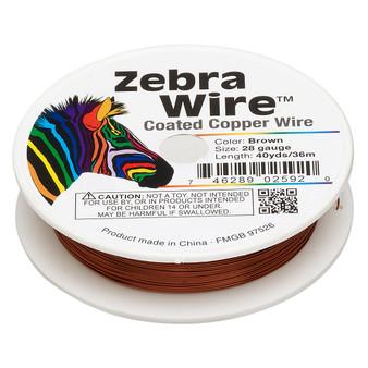 1 x reel of Zebra Wire round - 28 guage (40 yards, 36 metres) Brown