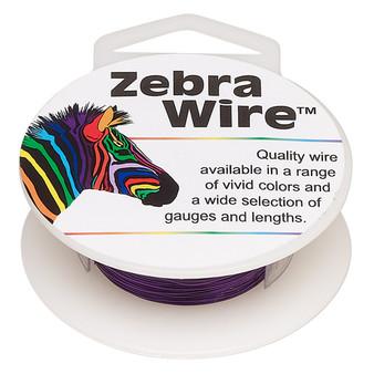1 x reel of Zebra Wire round - 28 guage (40 yards, 36 metres) Purple