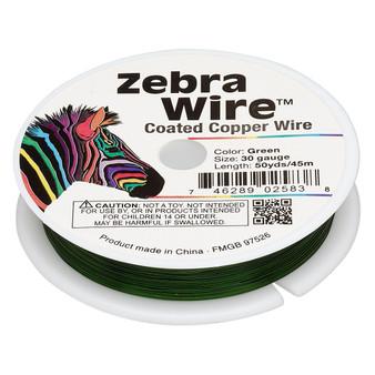 1 x reel of Zebra Wire round - 30 guage (50 yards, 45 metres) Green