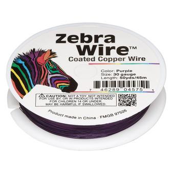 1 x reel of Zebra Wire round - 30 guage (50 yards, 45 metres) Purple
