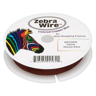 1 x reel of Zebra Wire round - 30 guage (50 yards, 45 metres) Brown