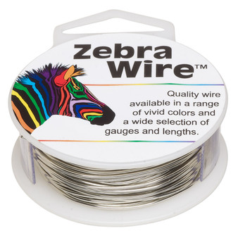 1 x reel of Zebra Wire round - 18 guage (10 yards, 9 metres) Silver