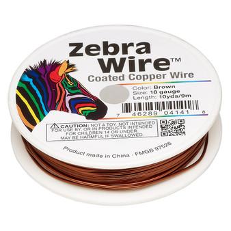1 x reel of Zebra Wire round - 18 guage (10 yards, 9 metres) Brown