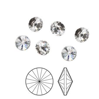 12mm - Preciosa MAXIMA Czech  - Crystal Clear - 4 pack - Foil back Faceted Rivoli