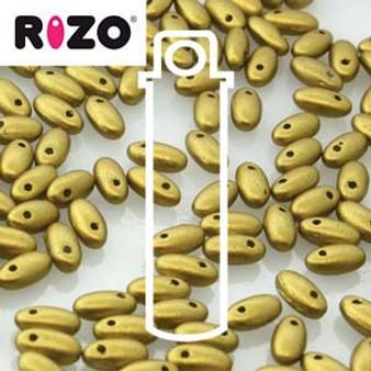 RZ256-00030-01720 Preciosa Czech Rizo Beads 2.5mm x 6mm - 22gms - Olive Gold