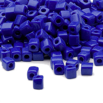 SB4-414 - Miyuki - 4mm - Opaque Cobalt - 25gms - 4mm Square Glass Bead