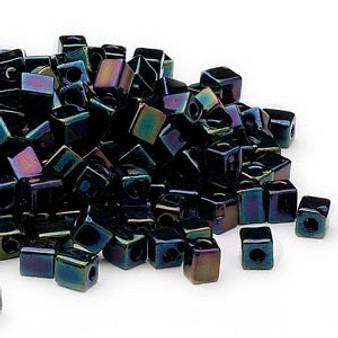 SB4-452 - Miyuki - 4mm - Opaque Metallic Purple - 25gms - 4mm Square Glass Bead