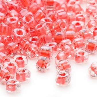 TR5-1111L - Miyuki - #5 - Transparent Clear Colour Lined Coral - 25gms - Triangle Glass Bead