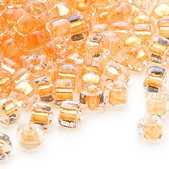 TR5-1107 - Miyuki - #5 - Transparent Clear Colour Lined Lt Gold - 25gms - Triangle Glass Bead