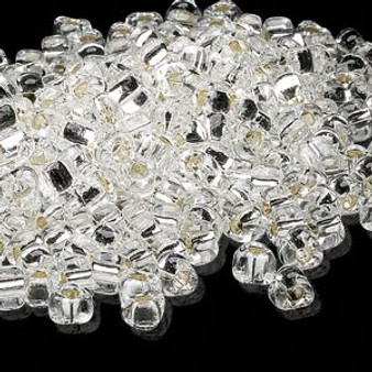 TR5-1101 - Miyuki - #5 - Silver Lined Translucent Clear - 25gms - Triangle Glass Bead