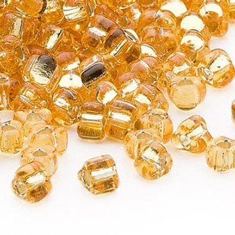 TR5-1102 - Miyuki - #5 - Silver Lined Translucent Amber Yellow - 25gms - Triangle Glass Bead