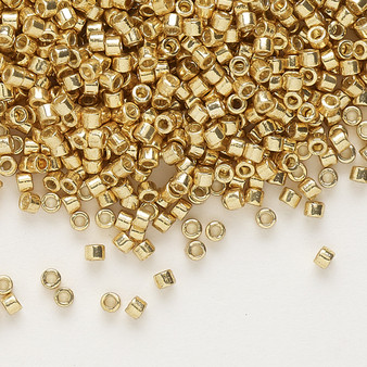 DB1832 - 11/0 - Miyuki Delica - Duracoat® opaque galvanized Gold - 50gms - Cylinder Seed Beads