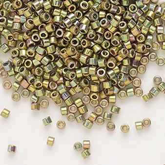 DB0508 - Miyuki Delica Beads - Cylinder- SIZE #11 - 50gms - Colour DB508 Green Gold AB