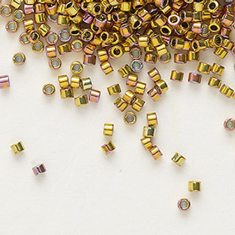 DB0507 - Miyuki Delica Beads - Cylinder- SIZE #11 - 50gms - Colour DB507 Pink Gold AB