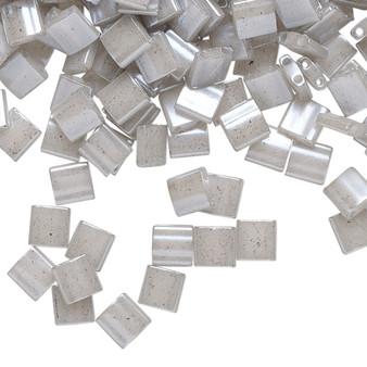 TL526 - Miyuki Tila - Opaque Ceylon Light Grey - 40gms - Two Hole Square glass beads
