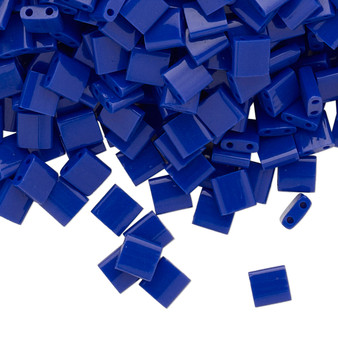 TL414 - Miyuki Tila - Opaque Cobalt - 40gms - Two Hole Square glass beads