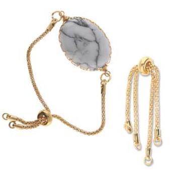 Gold Plated partially Finished Bracelet end - 1 Set