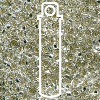 SPR2-1 - Miyuki - Crystal Silver Lined - 2.2mm x 1mm - 7gms - Spacer Glass Bead