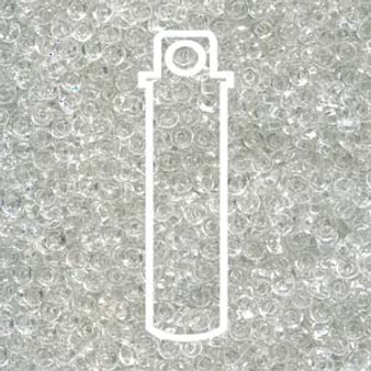 SPR2-131 - Miyuki - Crystal - 2.2mm x 1mm - 7gms - Spacer Glass Bead