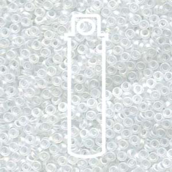 SPR2-131FR - Miyuki - Crystal Matte AB - 2.2mm x 1mm - 7gms - Spacer Glass Bead