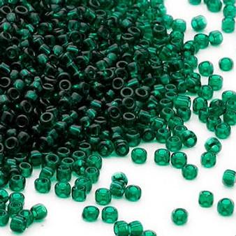 11/0 - Dyna-Mites™ - Transparent Dark Green - 40gms - Glass Round Seed Bead