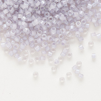DB0080 - 11/0 - Miyuki Delica - Translucent Pale Violet Lined Luster Clear - 250gms - Cylinder Seed Beads