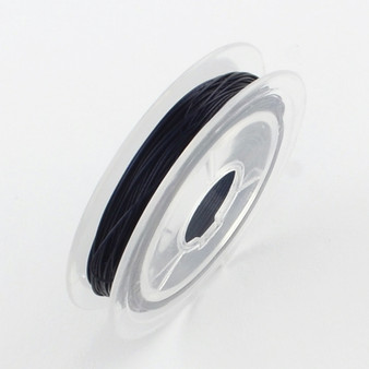Beading Wire Steel Tiger Tail, Midnight Blue, 0.45mm; about 10m/roll