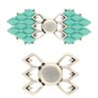 Cymbal FYLAKOPI - GEM DUO Magnetic Clasp Ant Silver Plate - 1pk