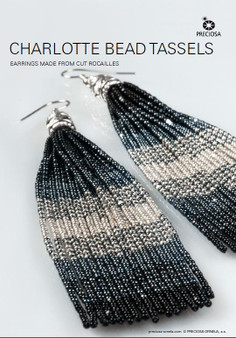 Free Download Pattern - Earrings made from cut rocailles